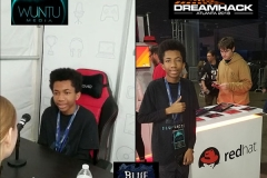 Red Hat Interviewing Pro Gamer BlueTactic at DreamHack