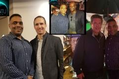 WunTu Media with Drew Brees, Dan Marino, Jarvis Green at Microsoft Super Bowl Party