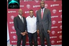 WunTu Media with Dr. Edwin Moses & Dikembe Motumbo at Super Bowl Event